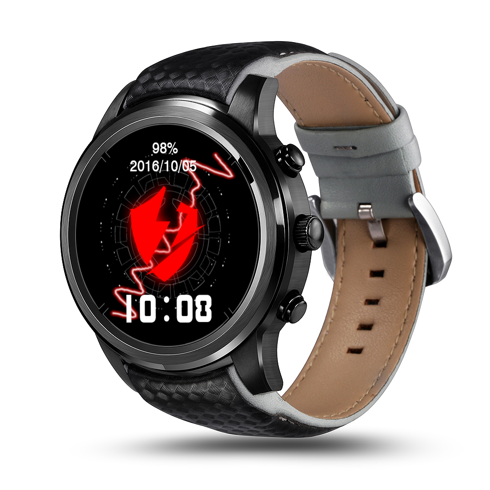 Wholesale LEMFO LEM5 Smart Watch Phone-1 IMEI, 3G, WiFi, Music, Pedometer, Heart Rate, Android OS