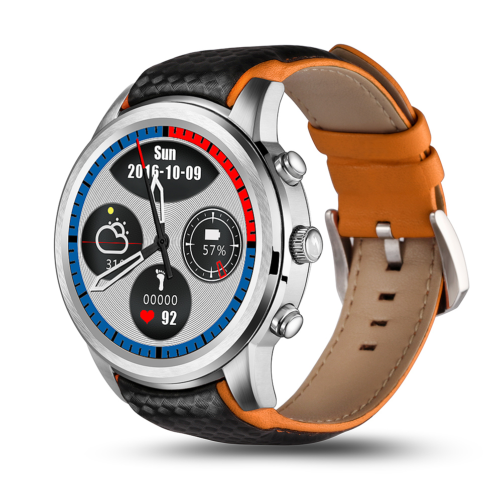 Wholesale LEMFO LEM5 Watch Phone-1 IMEI, 3G, WiFi, Music, Pedometer, Heart Rate, Android OS