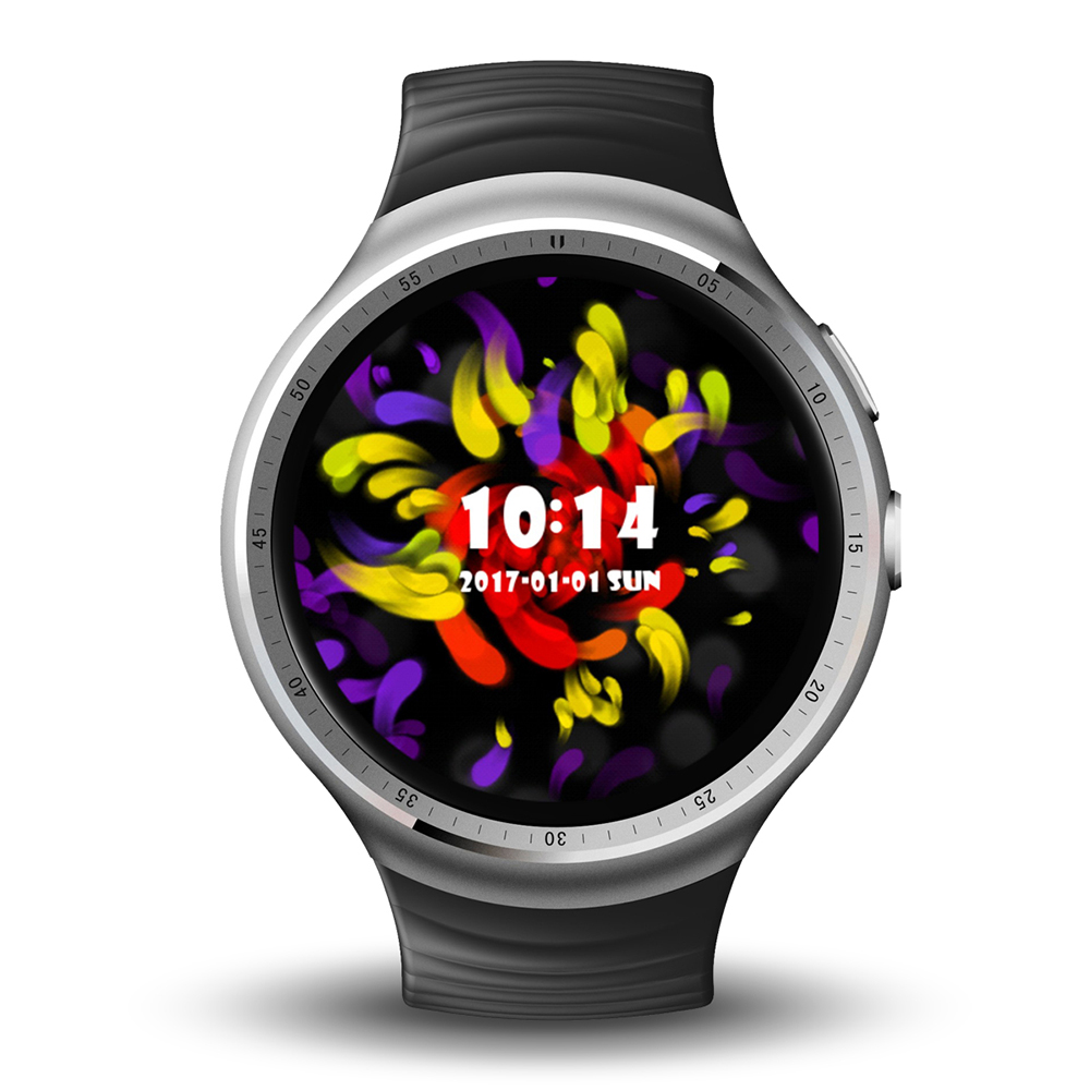 Wholesale LEMFO LES 1 Smart Watch Phone-1 IMEI, 3G, 2MP Camera, WiFi, Music, Pedometer, Heart Rate, Android OS