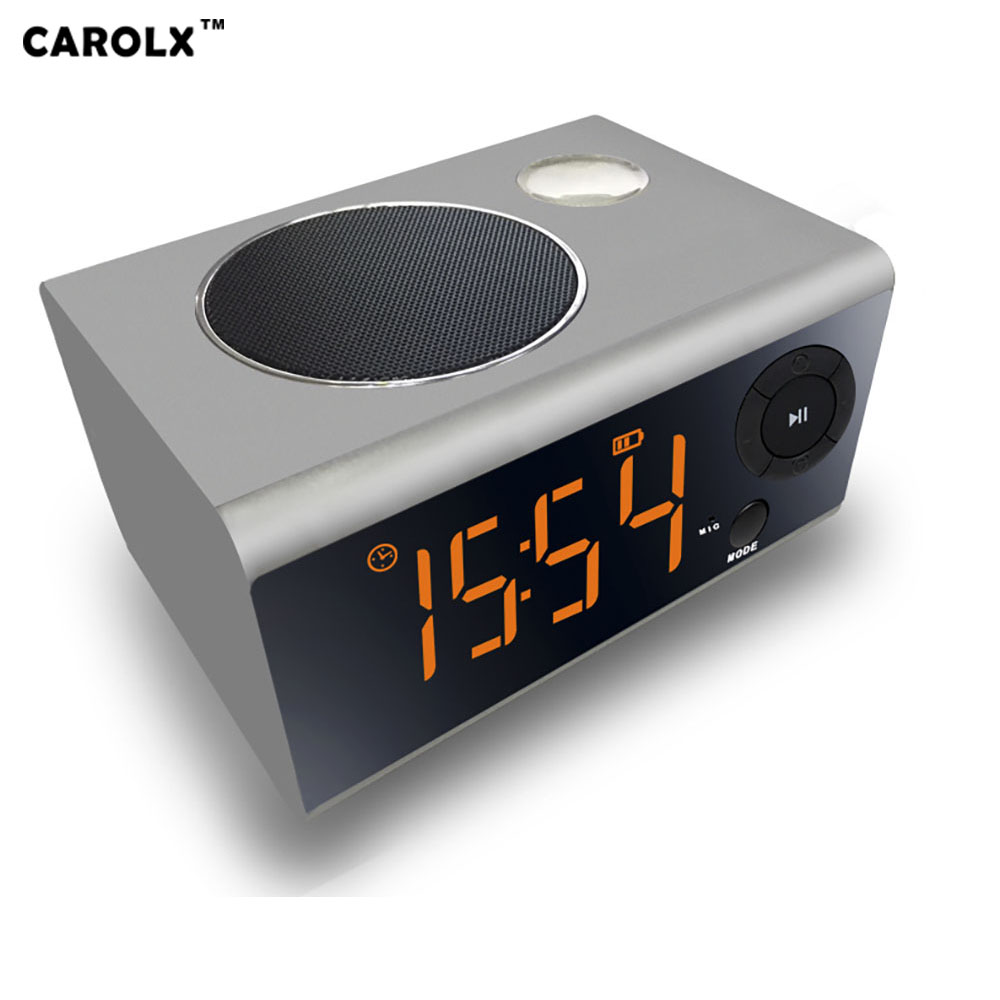 Wholesale Multi-function bluetooth speaker -5 watts, bluetooth 4.2, 2000 mAh battery, night light, clock, alarm clock, radio