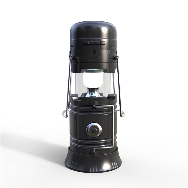 Wholesale Multifunction Outdoor Bluetooth Speaker - Torch and Lantern Light, FM Radio, Solar Charger, TF Card Slot