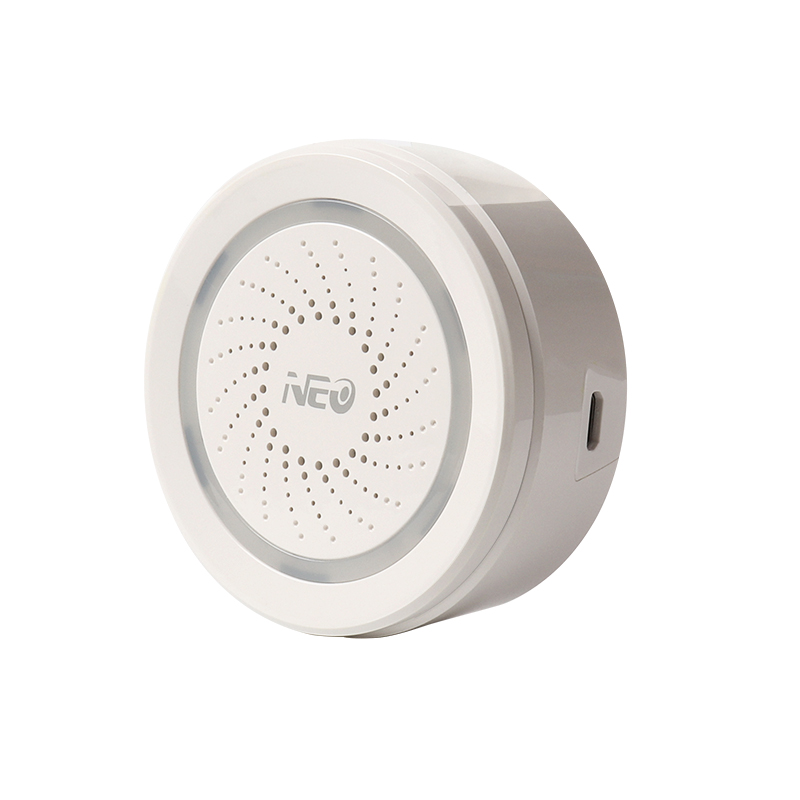 Wholesale NEO Smart WiFi Siren Alarm - 2.4GHz WiFi, Plug and Play, 100dB Loud Alarm, APP