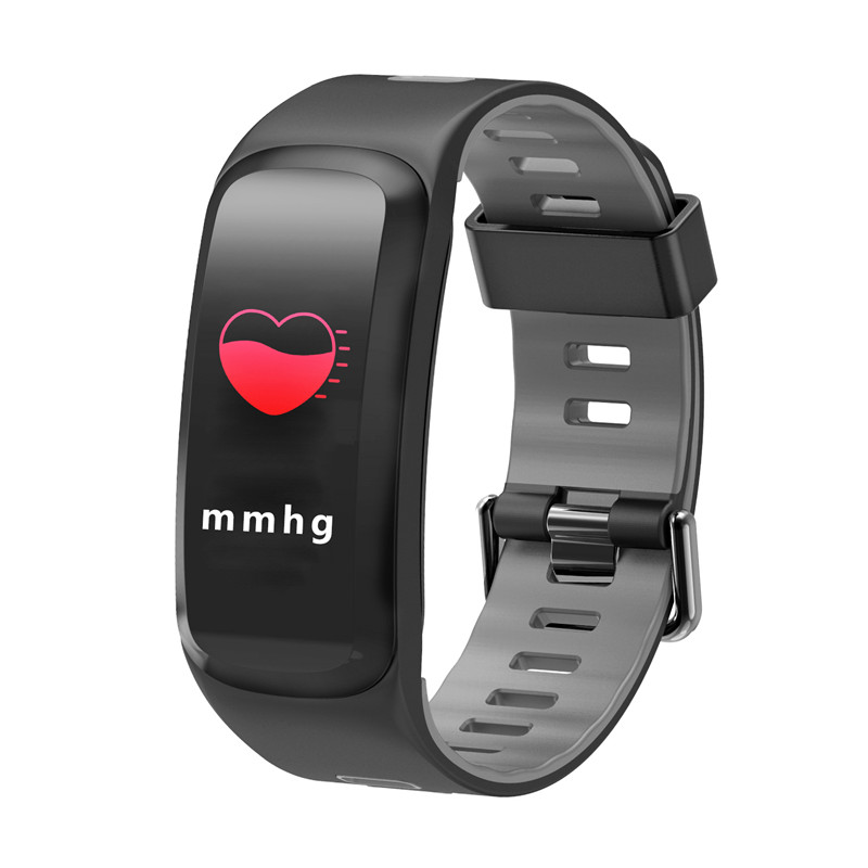 Wholesale NO.1 F4 Fitness Tracker Bracelet - 0.96 Inch OLED Screen, Bluetooth 4.0, Multi-sport Mode, Heart Rate, Blood Pressure (Gray)