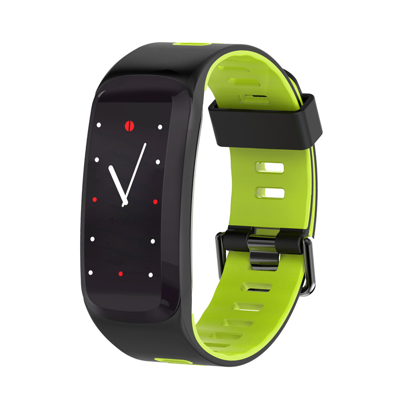 Wholesale NO.1 F4 Fitness Tracker Bracelet - 0.96 Inch OLED Screen, Bluetooth 4.0, Multi-sport Mode, Heart Rate, Blood Pressure (Green)