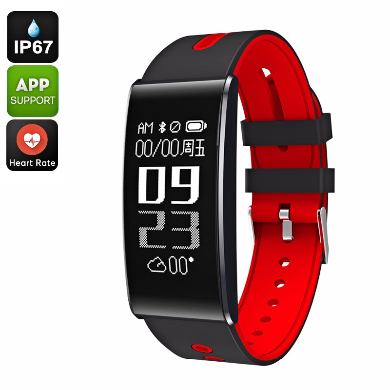 Wholesale ORDO S13 Fitness Tracker Bracelet - Heart Rate, Calorie Counter, Bluetooth 4.0, Blood Pressure, Pedometer, IP67, App (Red)