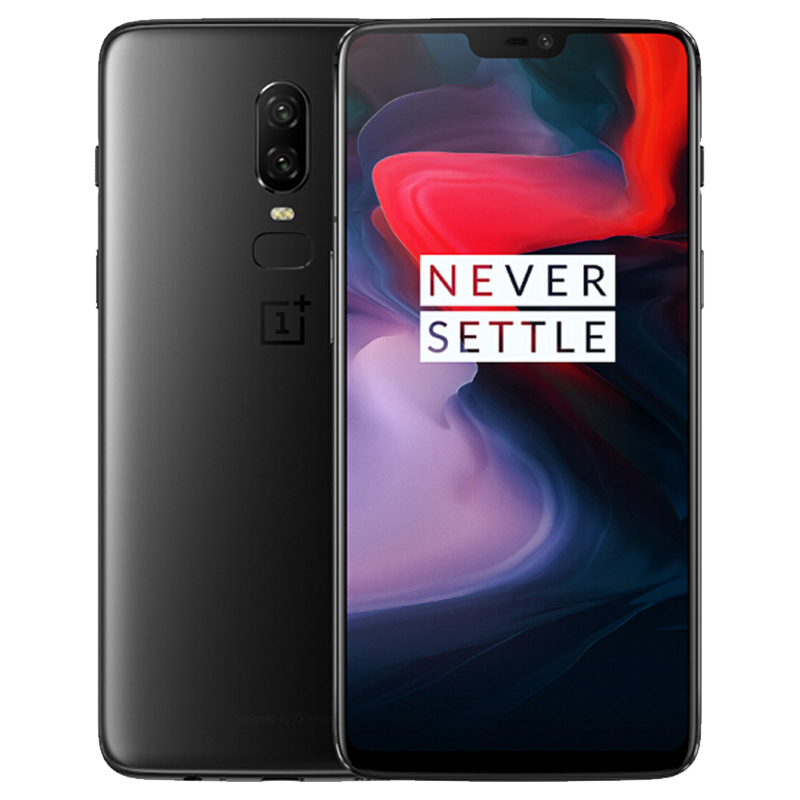 OnePlus 6 Android Phone - 6.28 Inch Optic AMOLED Screen, Snapdragon 845 CPU, 256GB ROM, Dual Rear Camera (Midnight Black)