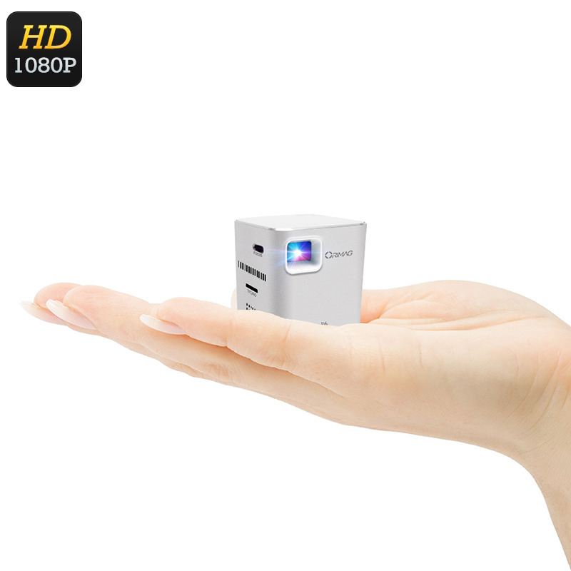 Wholesale Orimag P6 Mini DLP Projector - 1080p Support, 80 ANSI Lumen, Alu