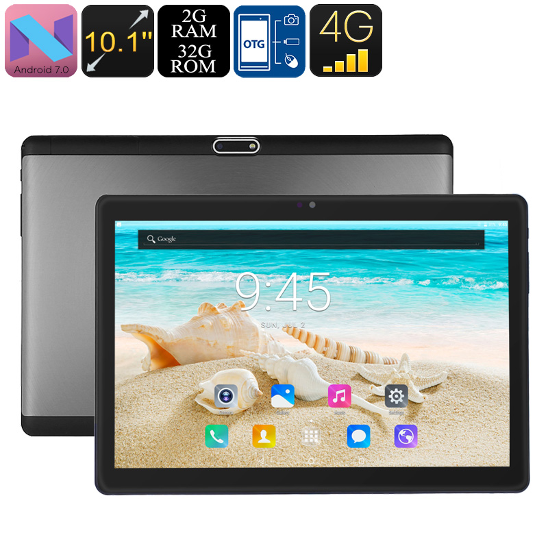 Wholesale PB2 4G Tablet PC - Android 7.0, Dual-IMEI, 4G, Octa-Core CPU, 2GB RAM, 10.1 Inch HD Display, 5000mAh, WiFi, OTG