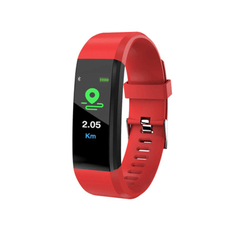 Wholesale Pro5 Bluetooth Fitness Tracker - Heart Rate, Pedometer, Calorie Counter, Notifications, Calls, 0.96 Inch Screen, IP67 (Red)