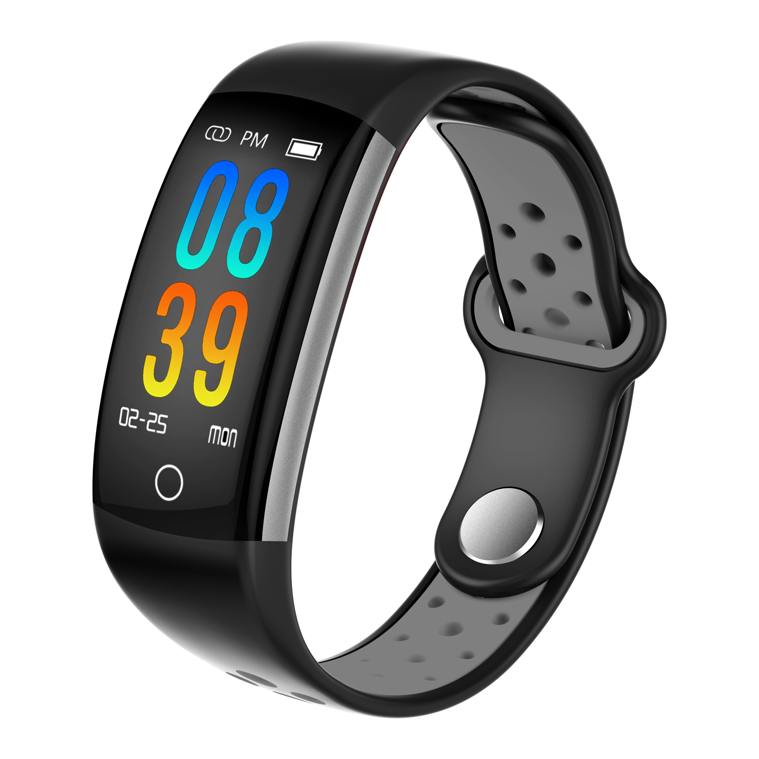 Wholesale Q6 Bluetooth Fitness Tracker - Heartrate Monitor, Pedometer, Calorie Counter, Notificaions, Calls, , 0.96 Inch Display Ip68