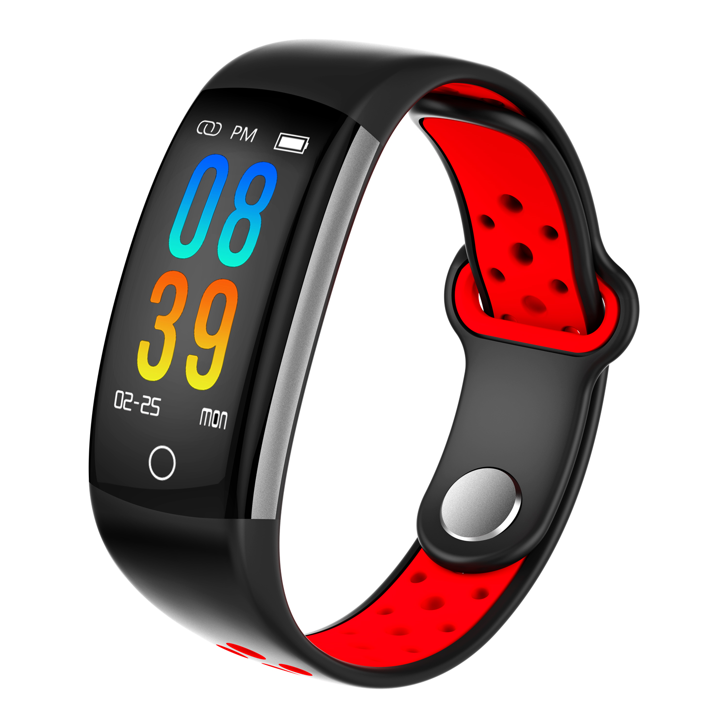 Wholesale Q6-Red Bluetooth Fitness Tracker - Heartrate Monitor, Pedometer, Calorie Counter, Notificaions, Calls, , 0.96 Inch Display Ip68