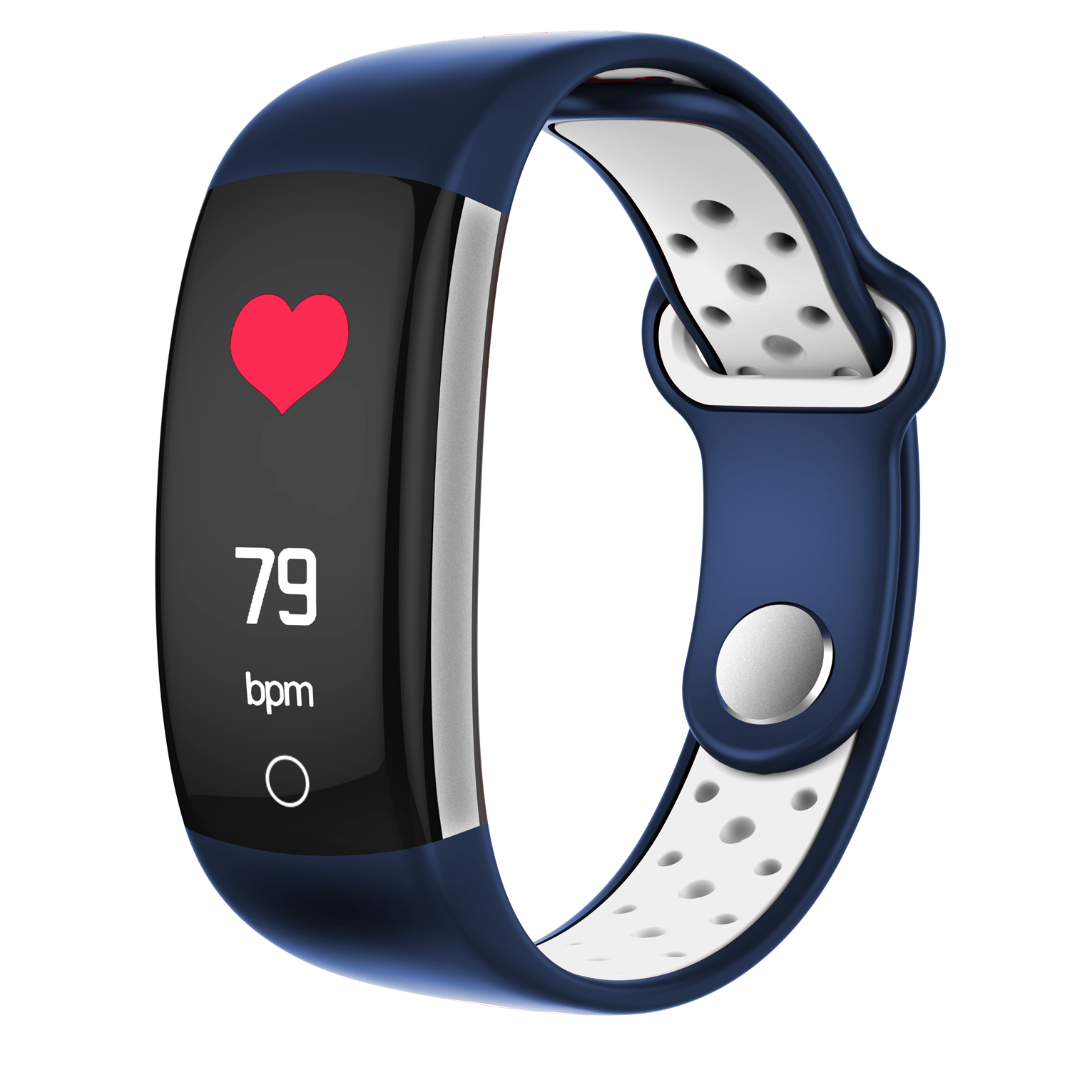 Wholesale Q6-White Bluetooth Fitness Tracker - Heartrate Monitor, Pedometer, Calorie Counter, Notificaions, Calls, , 0.96 Inch Display Ip68