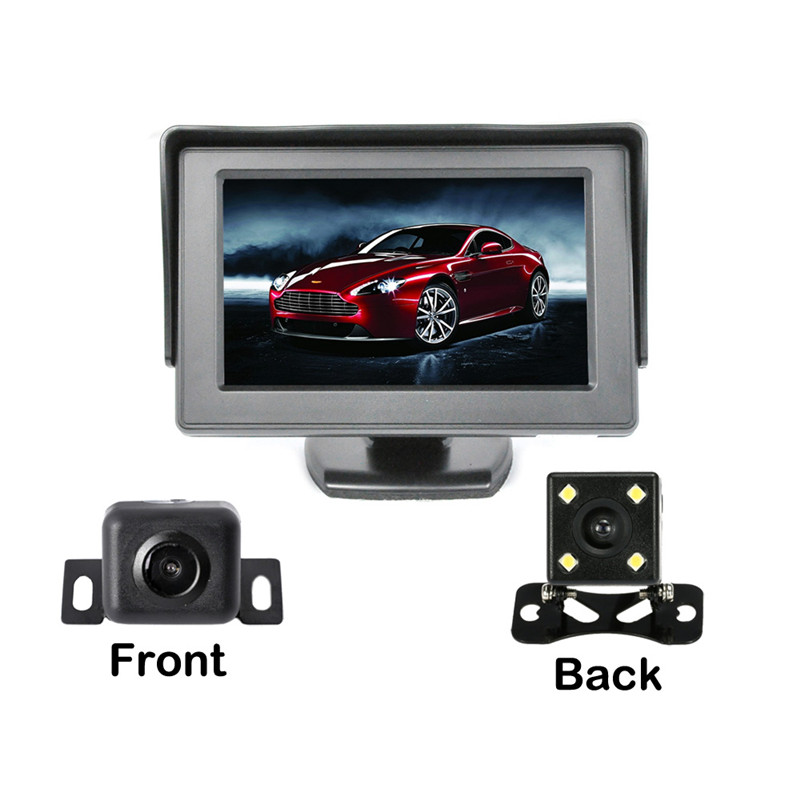Wholesale Rearview Camera Kit - 4.3 Inch Display, 2 Cameras, Waterproof, Nightvision