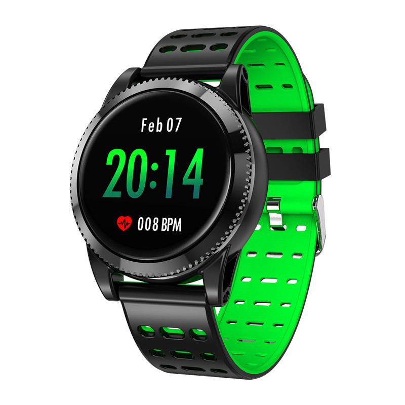 Wholesale Sports Smart Bracelet - 1.3 Inch IPS Screen, 220mAh Battery, Pedometer, Blood Pressure Monitoring, Waterproof IP67 (Green)