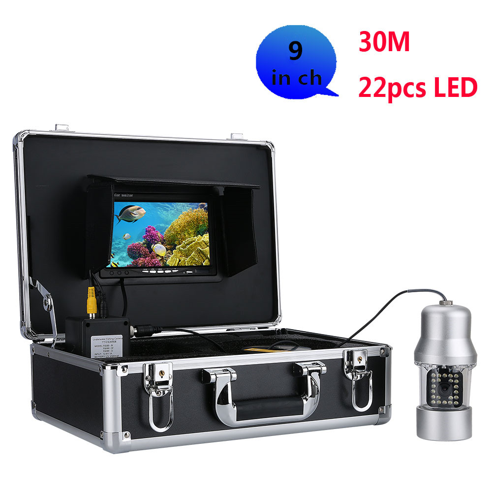 Wholesale Underwater fishing video recorder -360 degrees, 1/3 inch SONY CCD, 700 TVL, remote control, 9 inch color display send 8 G TF CAR