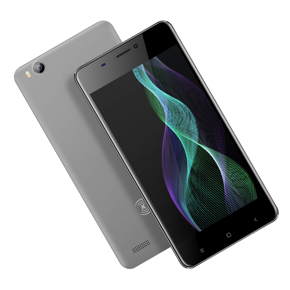 V5 3G Smartphone - Android 7.0 OS, Quad Core CPU 4.0-Inch Display, 1500mAh Battery, Front & Rear Camera (Gray)