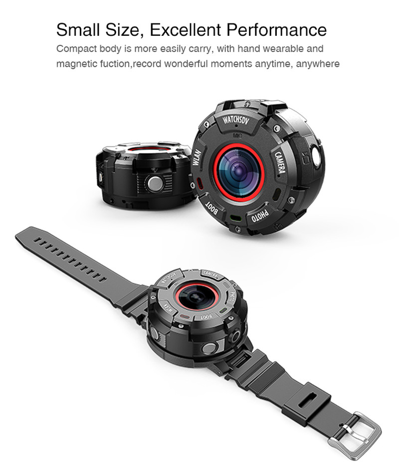 Wholesale Wearable and Detachable Smart Sports Camera - 1080P, APP, Wifi, Magnetic Base, Waterproof, Car DVR, Hunting Camera