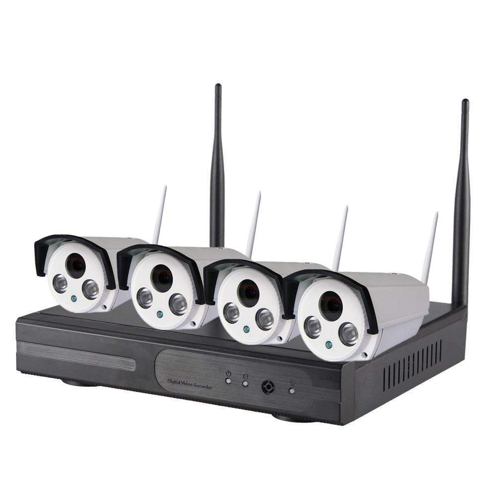 Wholesale WiFi NVR Kit - 4 Cameras, 720p, 30m Night Vision, IP67, IR Cut, App Support For iOS And Android 1TB HDD