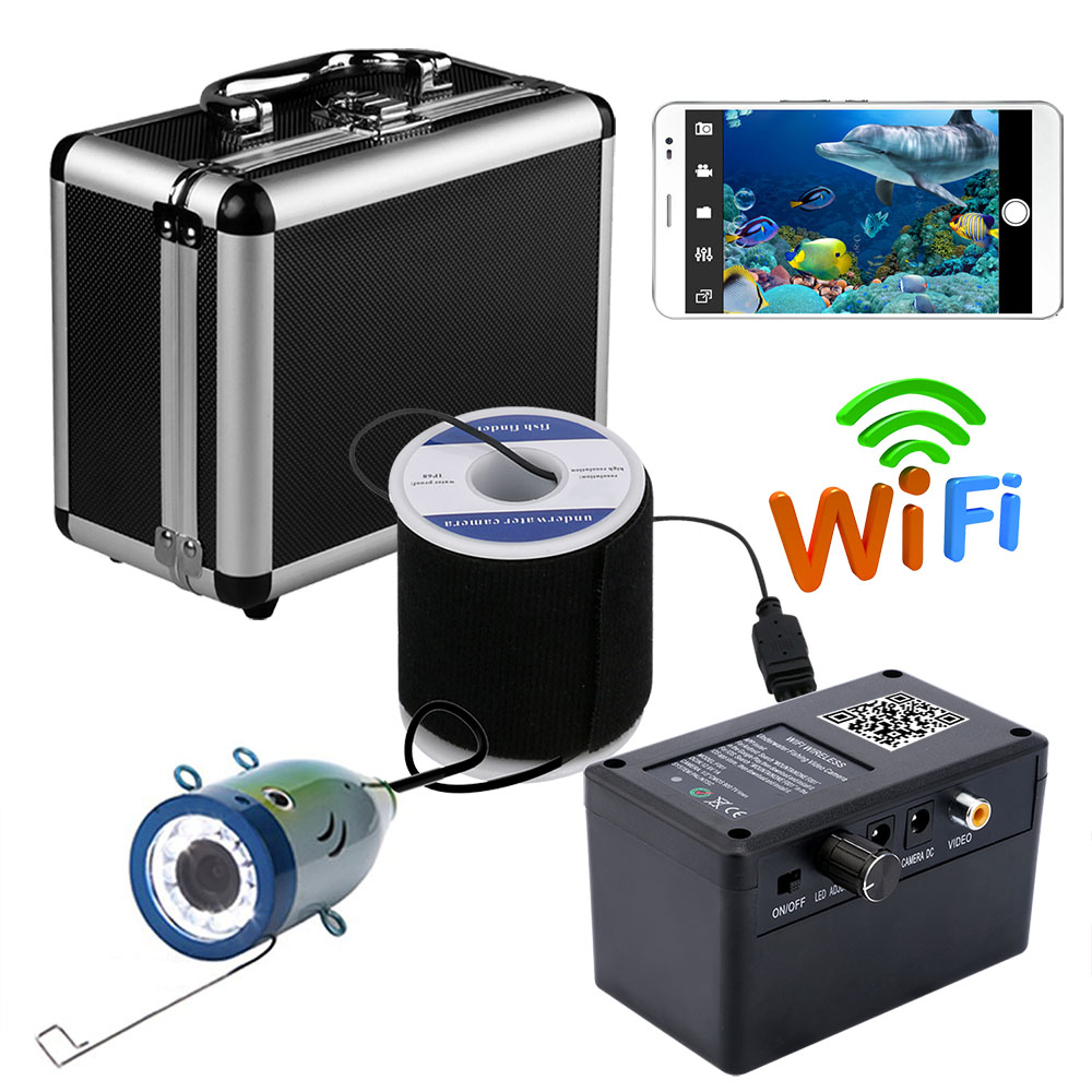 Wholesale Wireless WIFI visible fishing device 30 meters mobile phone to watch 1000lines of high definition underwater fishing detector
