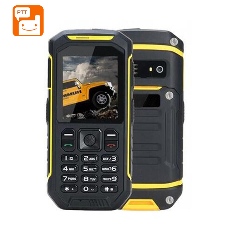 Wholesale X6 Rugged Phone - 2.4inch Screen, Walkie Talkie, IP68 Waterproof, FM Radio, 0.3MP Camera, Flashlight, 2500mAh Battery (Yellow)