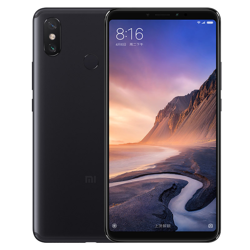 Wholesale Xiaomi Max 3 Android Phone - 6.9-Inch Screen, Octa Core, 64GB ROM, Dual Camera, Fingerprint, 5500mAh Battery, 4G (Black)
