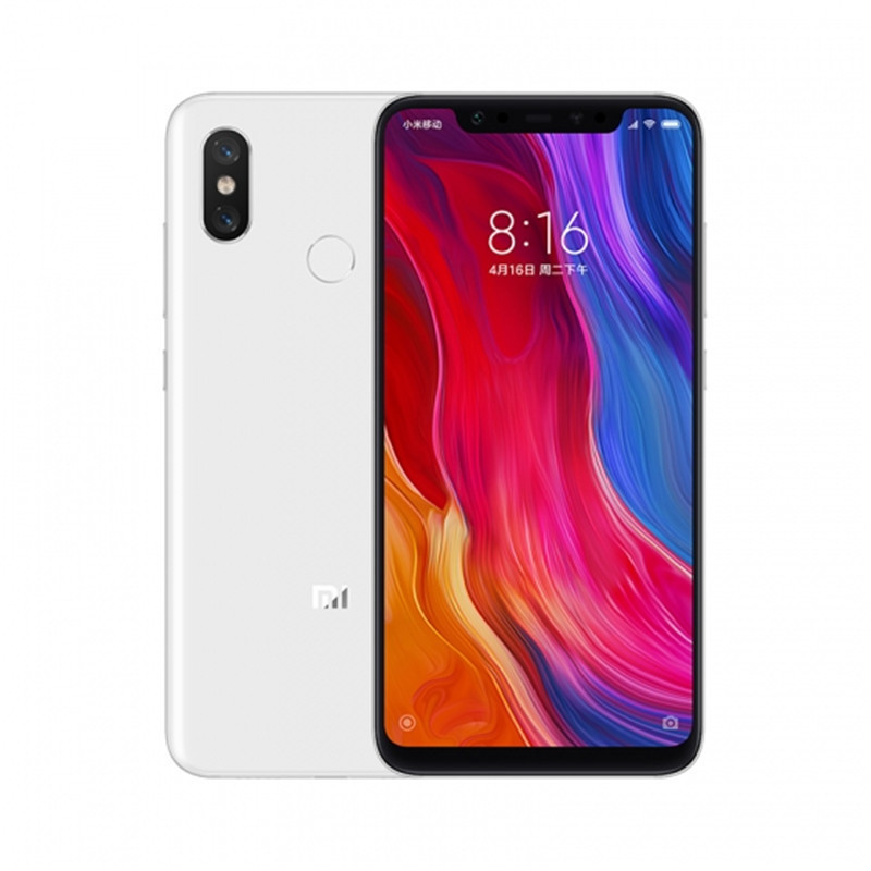 Wholesale Xiaomi Mi 8 Smartphone - 6.21 Inch AMOLED Screen, Octa Core, 128GB ROM, Dual GPS, Fingerprint, NFC (White)