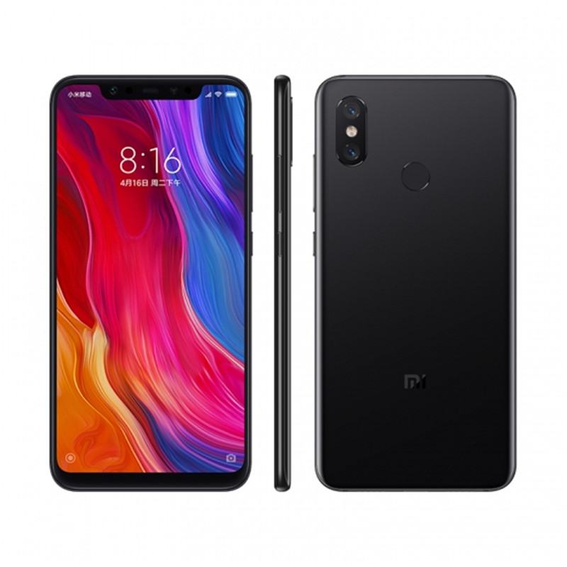 Wholesale Xiaomi Mi 8 Smartphone - 6.21Inch AMOLED Screen, Octa Core, 128GB ROM, Dual GPS, Fingerprint, NFC (Black)
