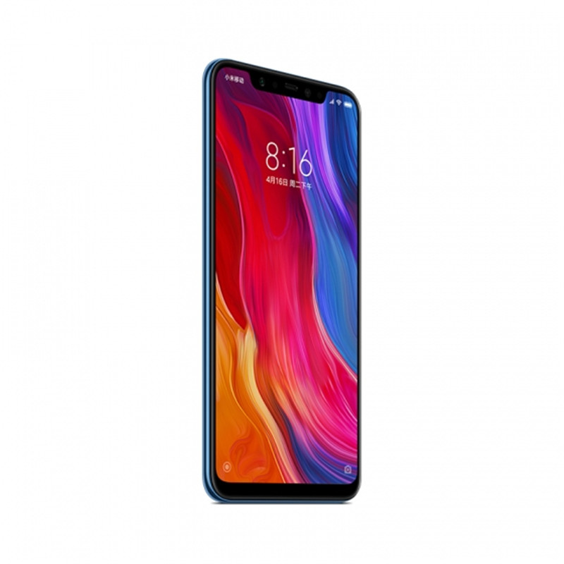 Wholesale Xiaomi Mi 8 Smartphone - 6.21Inch AMOLED Screen, Octa Core, 128GB ROM, Dual GPS, Fingerprint, NFC (Blue)