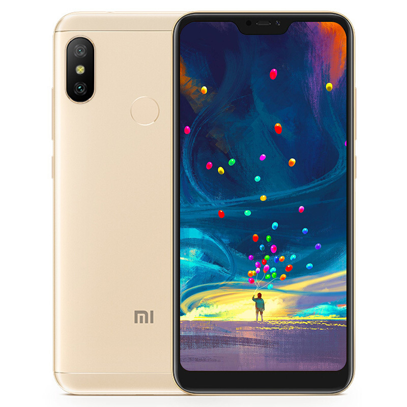 Wholesale Xiaomi Redmi 6 Pro Android Phone - 5.84 Inch 19: 9 FHD Screen, 64GB ROM, Octa Core, Dual Camera, Finger Print, 4G (Gold)