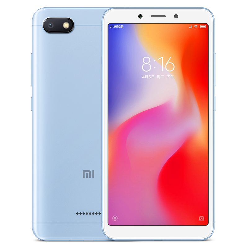 Wholesale Xiaomi Redmi 6A Android Phone - 5.45 Inch Screen, Quad Core, Bluetooth, GPS, Dual SIM Card, TF Card Slot Up to 256GB, 4G (Blue)