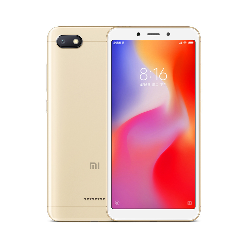 Wholesale Xiaomi Redmi 6A Android Phone - 5.45 Inch Screen, Quad Core, Bluetooth, GPS, Dual SIM Card, TF Card Slot Up to 256GB, 4G (Gold)