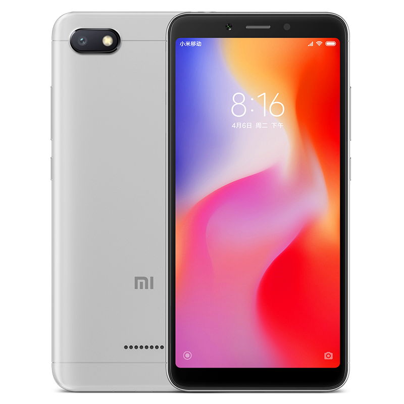 Wholesale Xiaomi Redmi 6A Android Phone - 5.45 Inch Screen, Quad Core, Bluetooth, GPS, Dual SIM Card, TF Card Slot Up to 256GB, 4G (Gray)