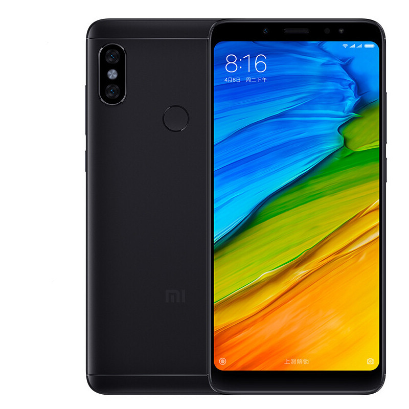 Wholesale Xiaomi Redmi Note 5 Android Phone - Octa-Core CPU, 128GB ROM, Dual-IMEI, 12MP Dual-Rear Cam, 2K Display, 4G (Black)