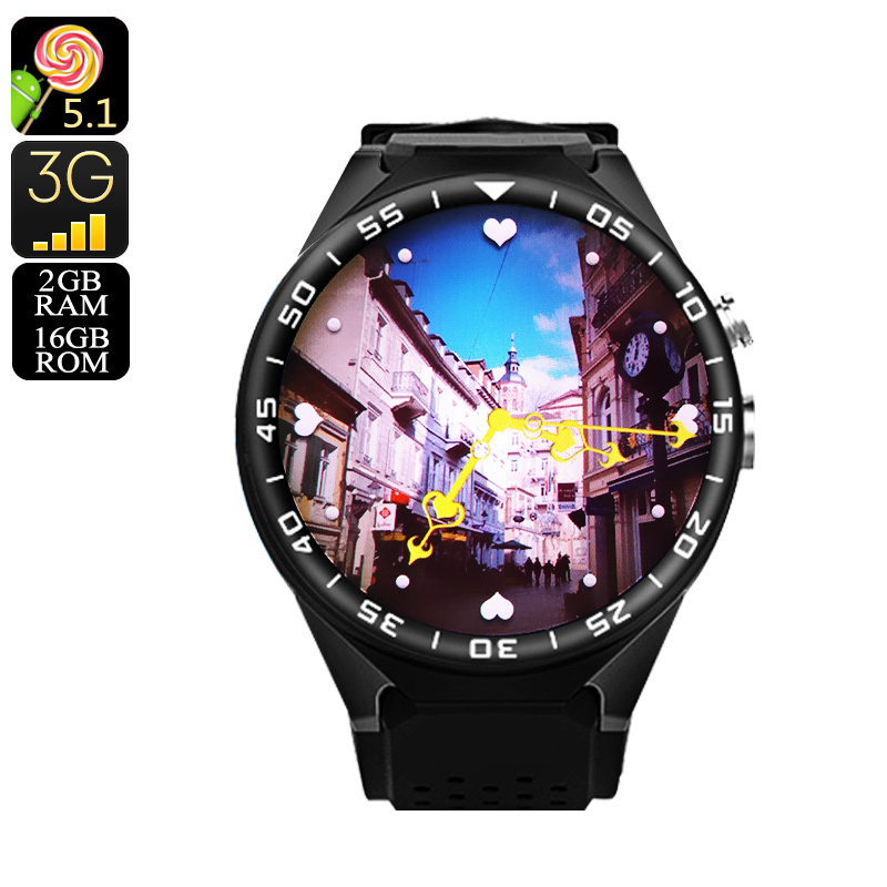 Wholesale ZGPAX S99C Android Watch - 2GB + 16GB, Bluetooth 4.0, WiFi, 3G, Pedometer, 5MP Camera, Quad-Core CPU