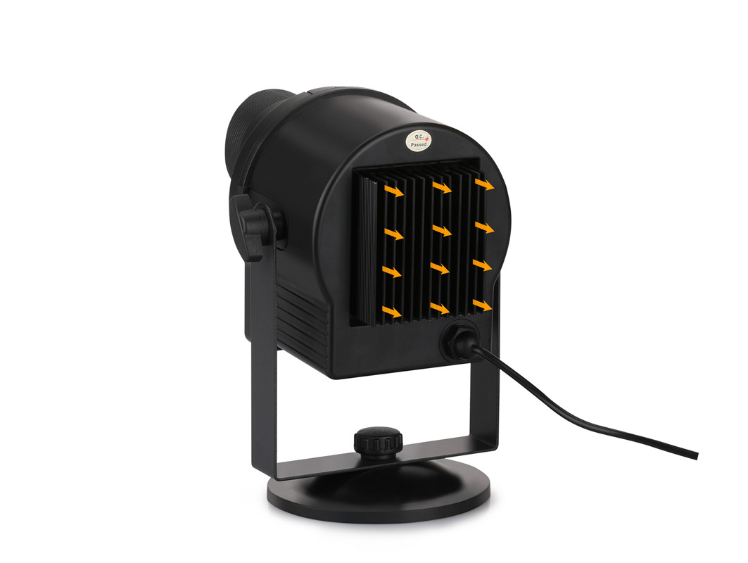 Wholesale blinblin SHOW 1 LED Projector Light with 6 Pattern Slide - BLACK