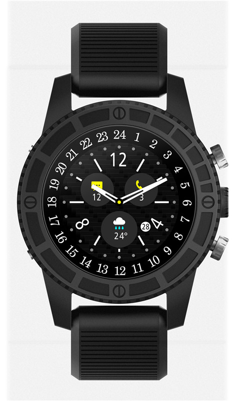 Wholesale i7 Android Smart Watch - 4G, 1.39 InchTouch Screen, Pedometer, Heartrate Sensor, Android 7.0, 2MP Camera (Black