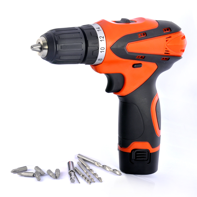 Wholesale Cordless Electric Drill with Flashlight (Rechargeable, 12V, 350/1250RPM)