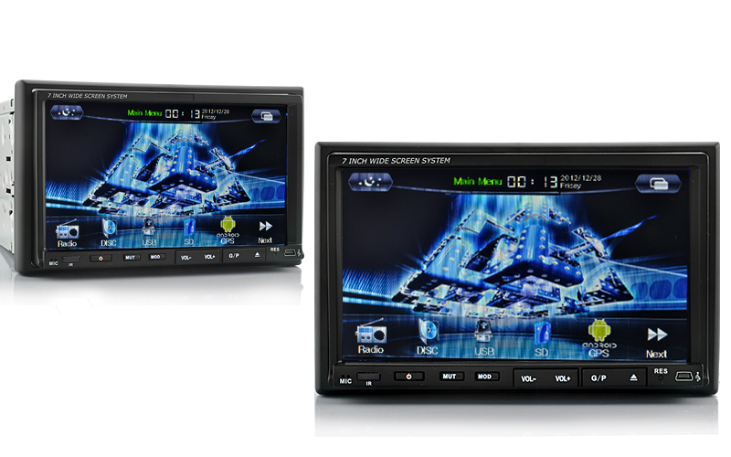 Knight Rider - 2 DIN Android 4 0 Car DVD Player with GPS, 3G, DVB-T