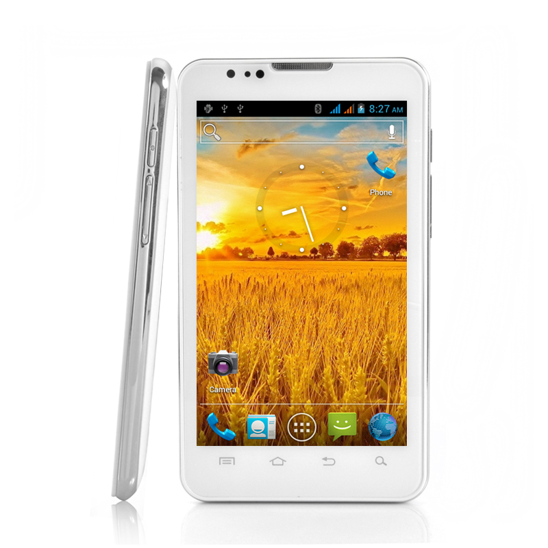 Wholesale Stratos - Stylish White Design 3G Android 4.0 Phone (Dual SIM, 5.3 Inch, 8MP Camera)