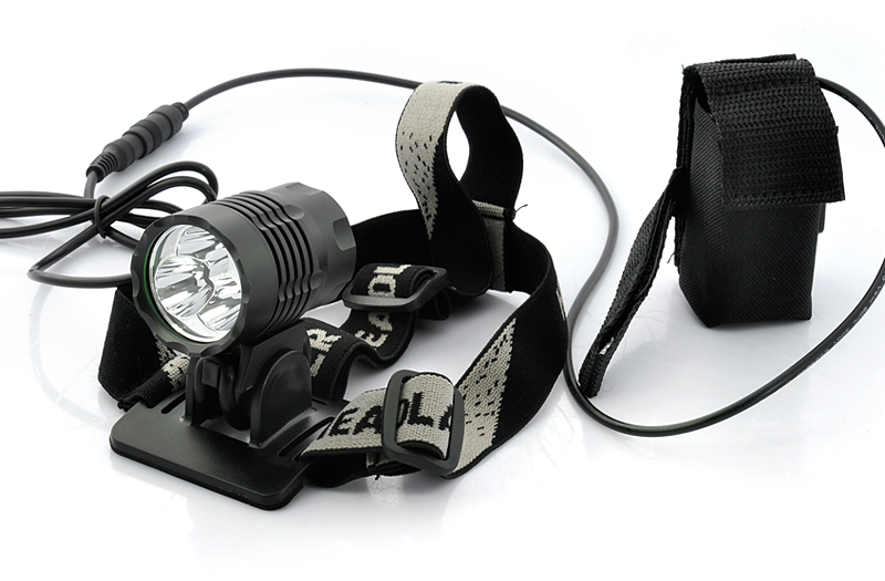 Wholesale Bicycle Headlight + Headlamp + Rear Tail Light + Laser Guide Light (1800 Lumens, 4400mAh)