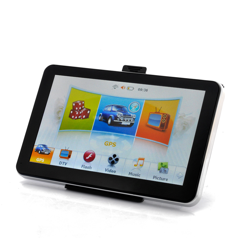 Wholesale NaviU - 7 Inch Touchscreen Car GPS Navigator with MPEG-4 DVB-T, FM Transmitter