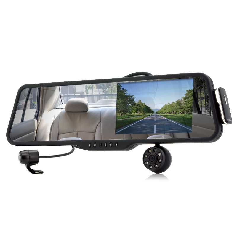 Wholesale Car Rearview Mirror with Front and Rearview Camera (Bluetooth, 5