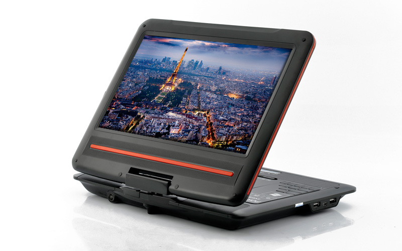 how to connect coby portable dvd player to tv