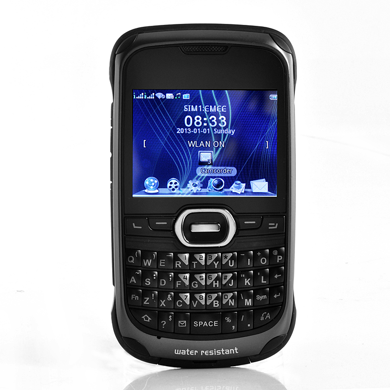 Titanium - Rugged WiFi Mobile Phone with QWERTY Keyboard - Waterproof, Shock Proof [TZC-M343]- US$100.59 - PlusBuyer.com