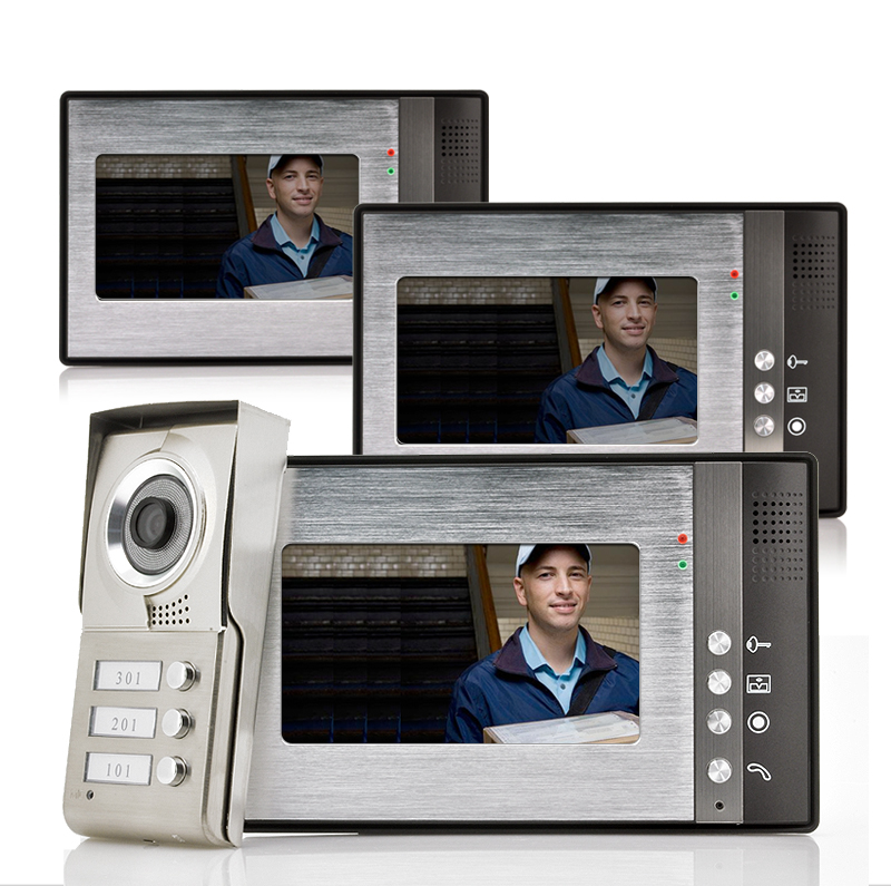 images/wholesale-electronics/Video-Door-Phone-Triga-3-Monitors-for-3-Separate-Households-Night-Vision-plusbuyer.jpg