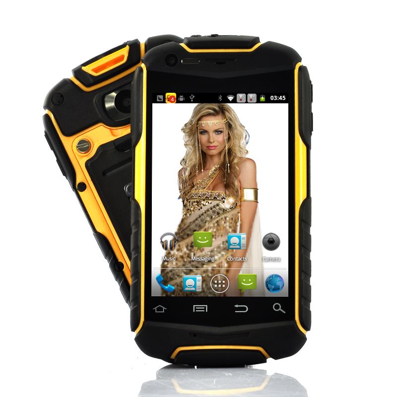 Wholesale Nyx - 3.5 Inch Rugged Android Phone (Water Resistant, Shockproof, Dustproof, Yellow)