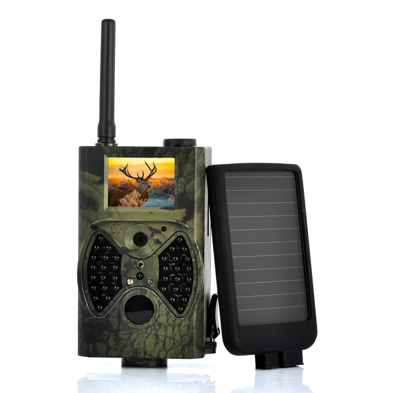 Wholesale Solar-Shot - PIR Game Hunting Camera With 1500mAh Solar Panel (1440x1080, Night Vision, MMS)