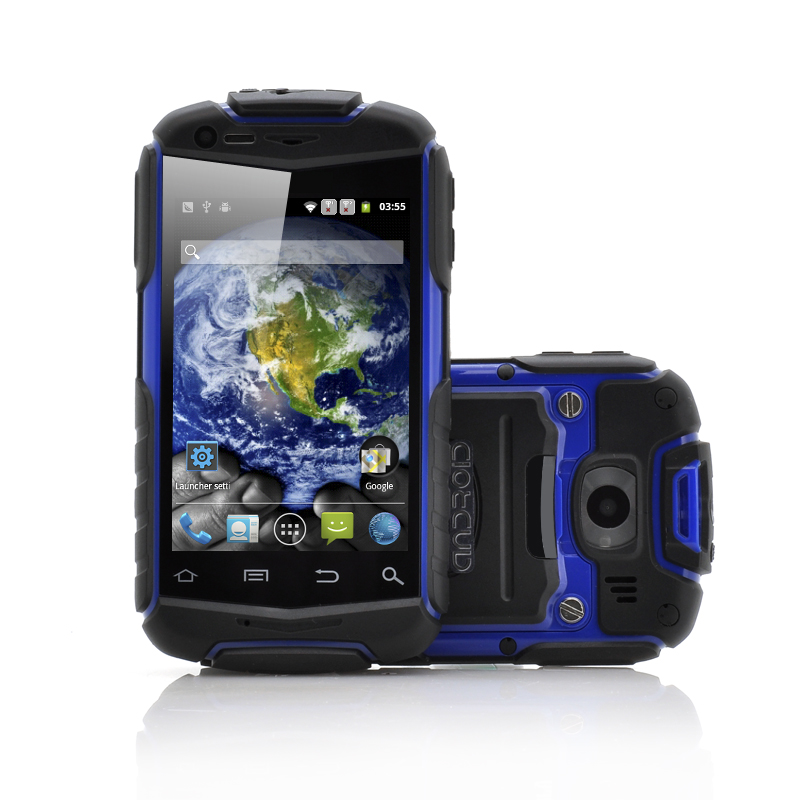 Wholesale Atlas - 3.5 Inch Rugged Android Phone (Water Resistant, Shockproof, Dustproof, Blue)